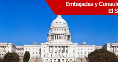 consulados y embajadas de el salvador