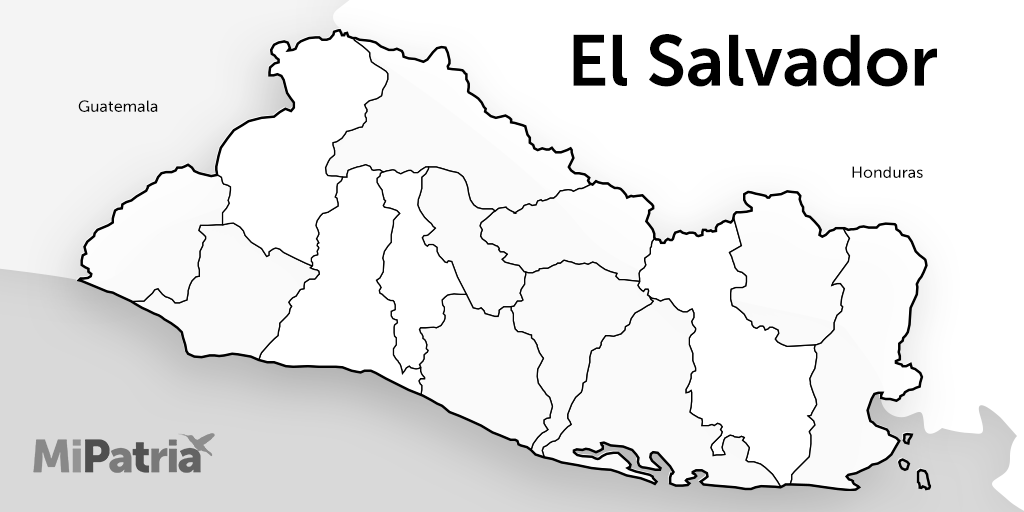 mapa de el salvador para colorear, el salvador drawing map