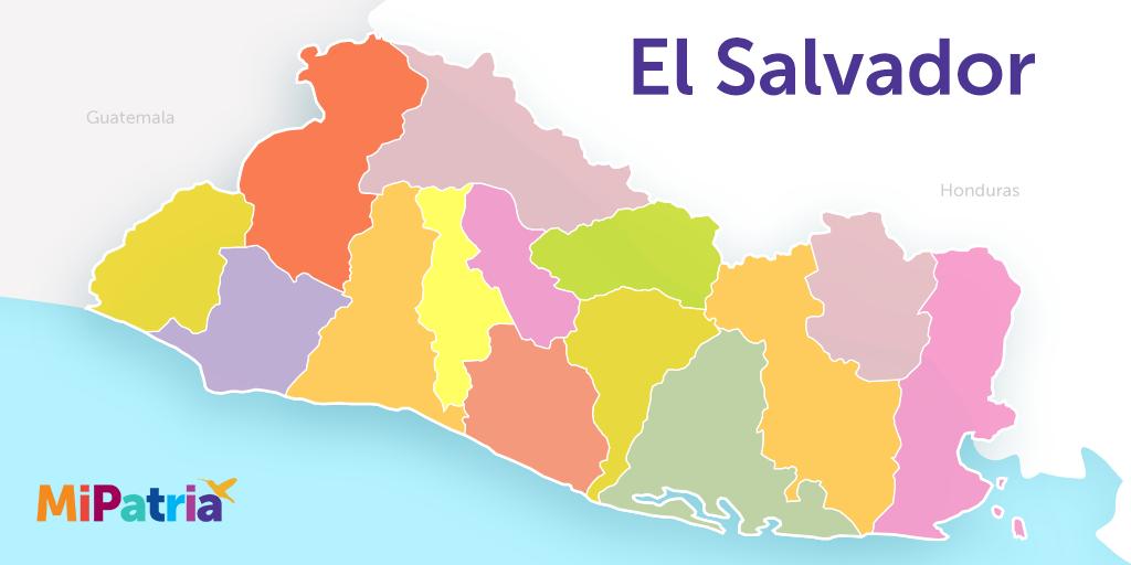 mapa de el salvador, el salvador map