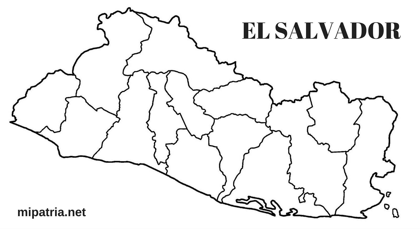 MAPA DE EL SALVADOR CON SUS DEPARTAMENTOS - MIPATRIA.NET