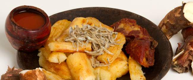 yuca frita, comida tipica de el salvador