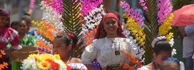 procesion de las palmas, tradicion de el salvador