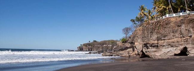 el sunzal, playa para surf, el salvador