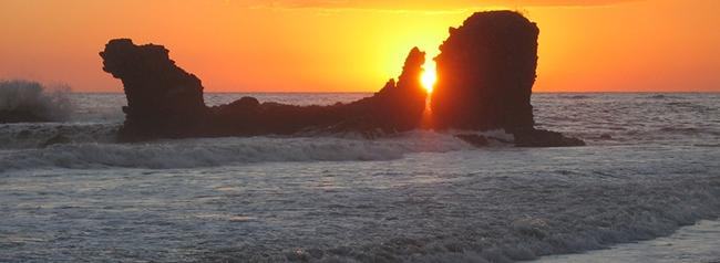 el tunco, playa para surf, el salvador