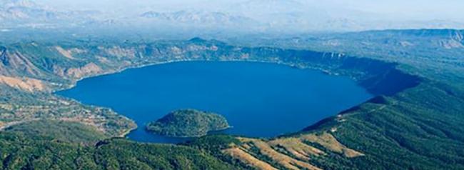 lago de coatepeque, lugar turistico de el salvador