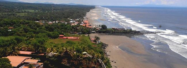 playa el cuco, lugar turistico de el salvador