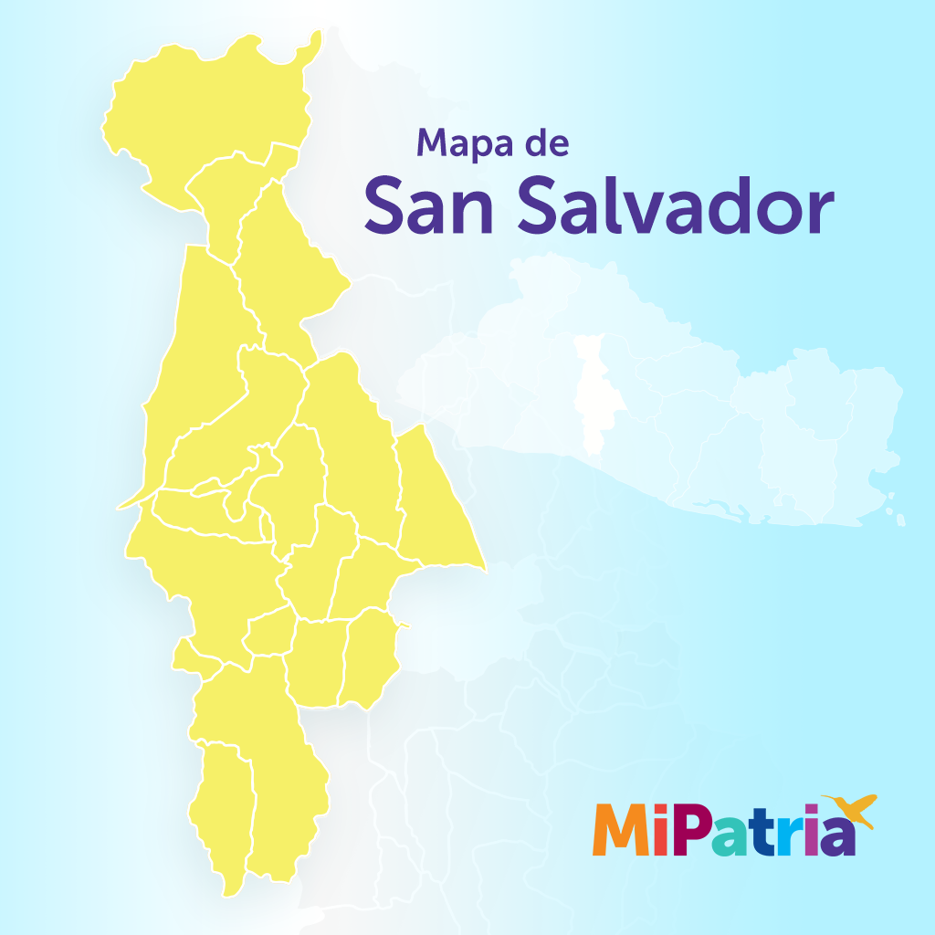 mapa de san salvador, el salvador. San Salvador department map