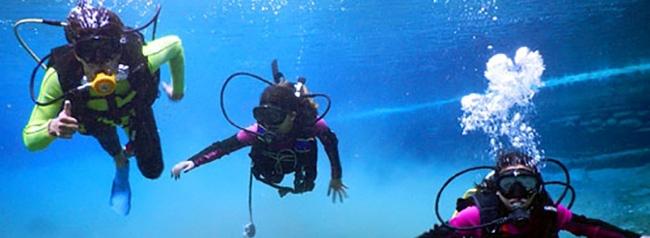 buceo en lago de coatepeque, turismo de aventura, el salvador