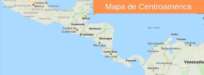 mapa de centro america