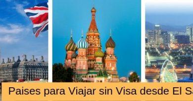 paises a los que los salvadoreños pueden viajar sin visa